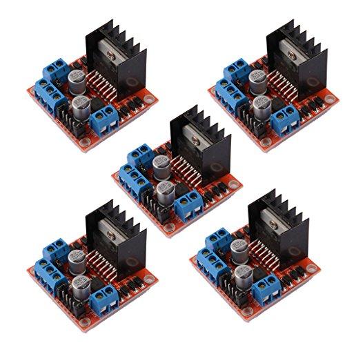 Daokai® module 5 stuks. H dubbele brug DC stepper motor driver controller L298N voor Arduino