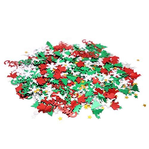 Dorime 2 Paquetes de 60 Gramos de Confeti árbol de Navidad de Santa Claus Navidad Ciervos Copo de Confeti Cinco...