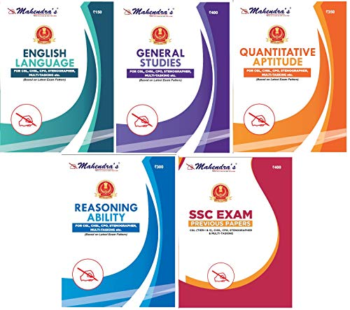 Mahendras SSC Kit English Latest Material 2021 (Combo of 5) [SSC BOOK | SSC CGL Tier I & Tier II | CPO | CHSL | GD CONSTABLE | STENOGRAPHER | SSC (10+2) ]