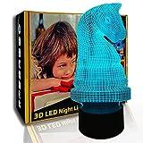 KangYD Pieza de ajedrez con luz nocturna 3D, lámpara de ilusión LED, lámpara de mesa para niños, F- Base de audio Bluetooth (5 colores), Lámpara para dormir, Regalo para niños