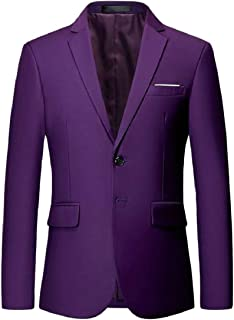 Sodossny-AU Mens Two Button Office Business Fashion Notched Collar Suit Dress Blazer