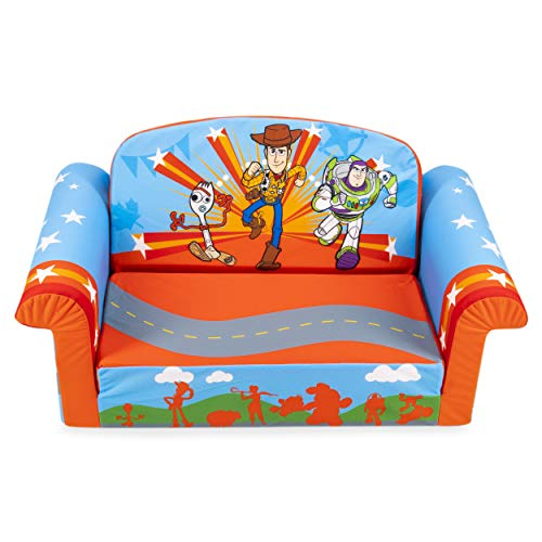 Marshmallow Furniture 2-in-1 Flip Open Couch Bed Sleeper Sofa Kid's Furniture for Ages 18 Months and Up, Toy Story