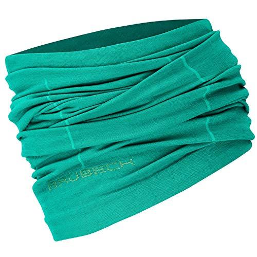 BRUBECK X-PERT Wool Schlauchtuch   Funktional   Multifunktionstuch   Schal   Kopftuch   Halstuch   54% Merino, 41% Polyamid, 5% Elastan, Größen:L - XL;Farbe:Green