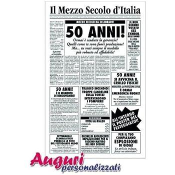 Biglietti Auguri 50 Anni Spiritosi Da Stampare Cinquantesimo