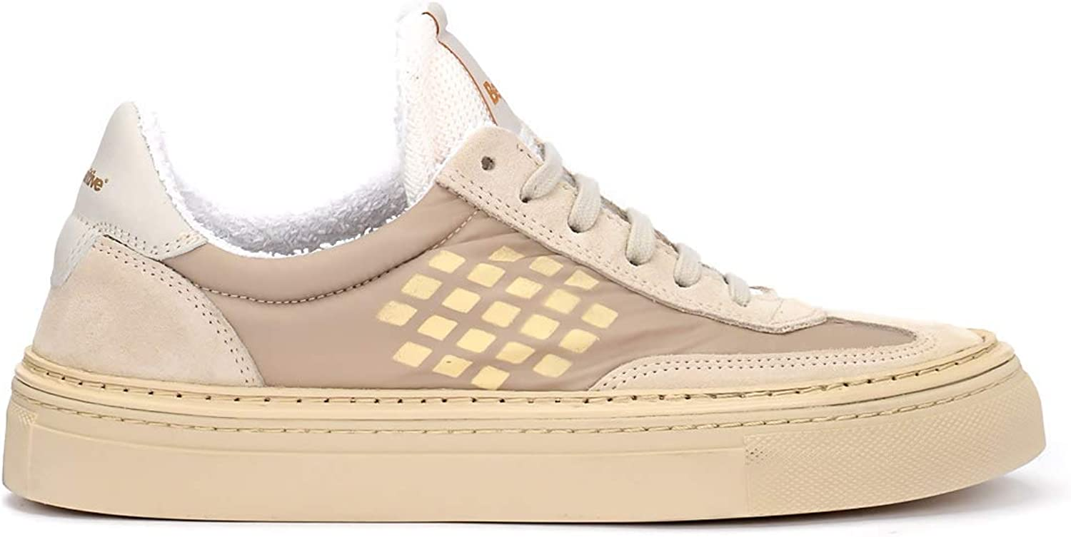 Be Positive Woman's Bepositive Roxy Sand Suede and Nylon Sneaker Beige