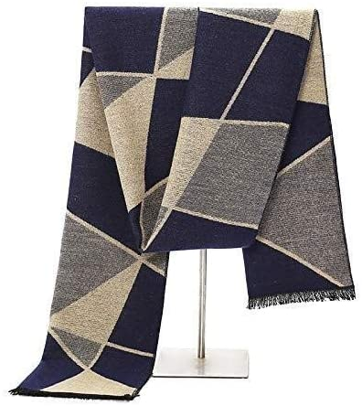 Udol Scarf Warm Winter Scarf Comfortable and Practical Men's Warm Autumn and Winter Scarves Striped Tartan Plaid Scarves Scarves 180 30cm j1005 (Color : 2)