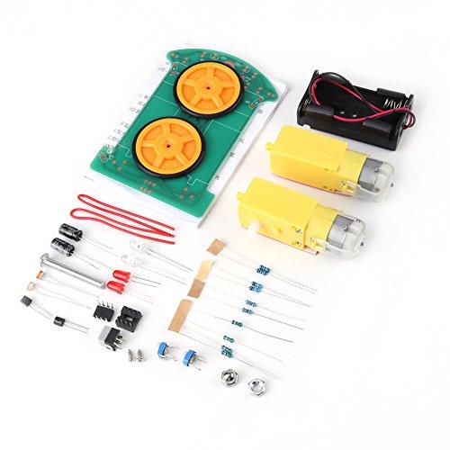 4 Räder Smart Tracking Roboter Car Kit, D2-1 Elektronische Produktion DIY Löt-Kit mit Reduktionsmotor