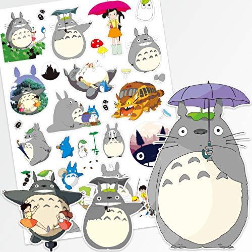 DONGJI Hayao Miyazaki mi Vecino Totoro Dibujos Animados Equipaje Maleta Pegatina Trolley Funda Ordenador Guitarra monopatín Pegatina Impermeable 26 Piezas