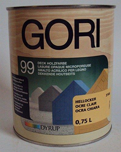 Gori 99 Holzfassaden-Farbe - 5 Liter (hellocker) Wetterschutzfarbe für den Außenbereich Deck Holzfarbe, Hellocker 3166