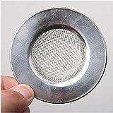 Colador de fregadero para tapón de ducha agujero de acero inoxidable fregadero drenaje plata