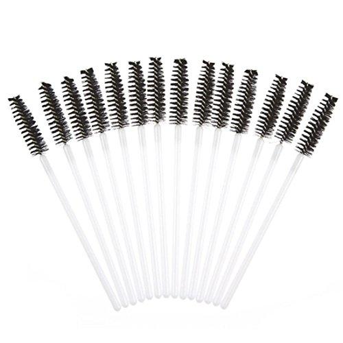 ❤️ LMMVP❤️ 50pcs Brosse à Cils Jetables Mascara Baguettes Maquillage Outil Cosmétique (50pcs, B)