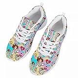 chaqlin Zapatillas de deporte para hombre de mujer,Zapatillas de deporte casuales,Zapatos de senderismo para correr de vacaciones de verano, color Azul, talla 40 EU