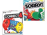 Hashbro Classic Sorry! Connect 4 Bundle |Friends, Family Indoor and Outdoor| Fun Strategy Board Games for Kids |Ages 6 and Up