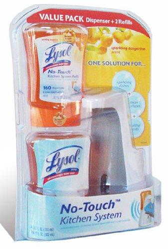 Lysol No Touch Liquid Soap Kitchen System, Sparkling Tangerine
