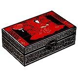 Caja De Dote De Novia Caja De Laca De Doble Capa De Gran Capacidad De Estilo Retro Tocador De Escritorio Regalo De Boda para Damas (Color : Black, Size : 23.5x15x8.5cm)