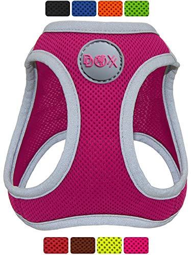DDOXX Brustgeschirr Air Mesh, Step-In, reflektierend, verstellbar, gepolstert | viele Farben & Größen | für kleine & mittlere Hunde | Hunde-Geschirr Hund Katze Welpe | Katzen-Geschirr | Pink, XS
