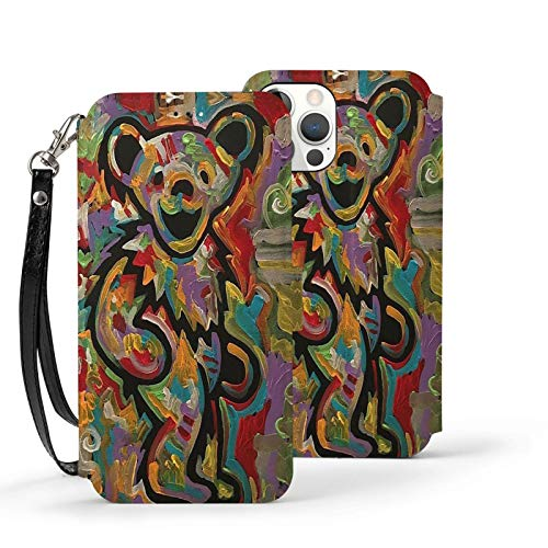 Tie Dye Grate-ful Dead Dancing Bear Phone Case for iPhone 12/12 Pro/12 Pro Max /12 Mini Soft TPU Leather Anti-Scratch Protective Cover