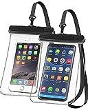 Videnc Wasserdichte Handyhülle, iphone 11,12 hülle,huawei wasserdichte Handyhülle 7,0 Zoll 2 Stück Handytasche wasserdicht Sandstrand Schwimmen Tauchen für iPhone 11,12 Samsung s21 Huawei P30 Pro Lite