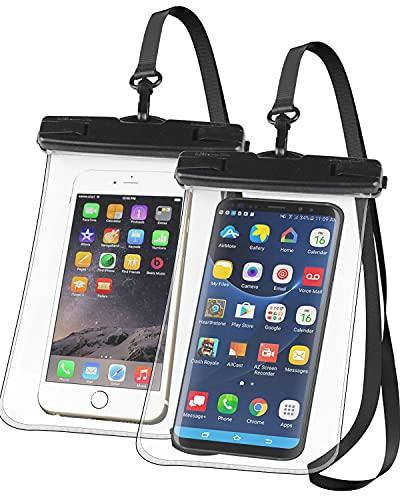 Videnc Custodia Impermeabile Subacquea Smartphone, Custodia Cellulare Impermeabile iPhone 11,11pro, Cover subacqueaUniversale con Cordino Regolabile Finestre Trasparenti per Telefono iPhone Huawei
