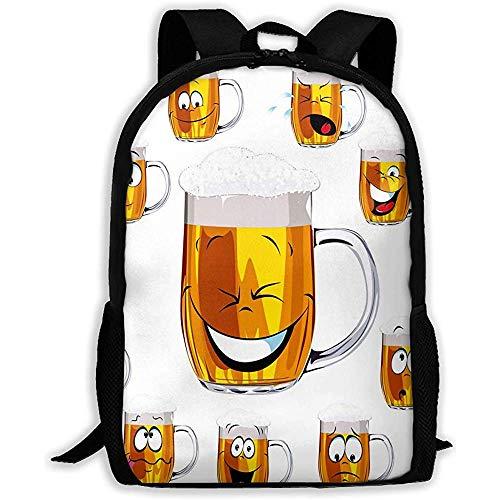 Lmtt Rucksack-Becher-frisches Bier Bookbag beiläufige Reisetasche für jugendlich Jungen-Mädchen