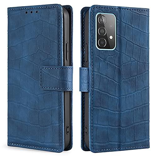 SCRENDY Funda Xiaomi Redmi Note 10/10S (4G) Libro, Carcasa con Tarjetero y Suporte, Cubierta Plegable Cartera, Flip Folio Cover Case, Tipo Étui Piel Protección Completa, Azul