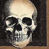 Amscan Creepy Halloween Boneyard Skull Disposable Beverage Paper Napkins ,...