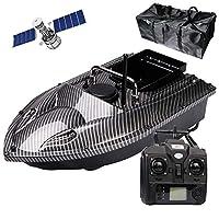 500メートルのリモートフィッシュファインダー船釣りRCの餌ボートのリモコンのリモコン漁船、LEDの夜の光とハンドバッグ,Carbon fiber,GPS5200mAh