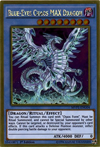 Yu-Gi-Oh!! - Blue-Eyes Chaos MAX Dragon (MVP1-ENG04) - The Dark Side of Dimensions Movie Pack Gold Edition - 1st Edition - Gold Rare
