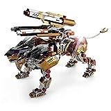 Taoke Super Schwierig Mechanische Lion 3D-Metall-Spielzeug for Erwachsene Puzzles Model Kits, Edelstahl Assembled Aufbau-Spielzeug (323 Stück, Farbe) 8bayfa