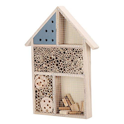 N/A Insektenhotel aus Holz Insektenhaus Insektenhaus aus aus Holz Schutz für Hotel Dekoration Garten Hochwertige Nistkasten Insektenbox für Bienen, Schmetterlinge, Marienkäfer B