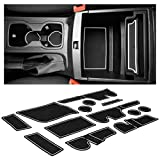 CupHolderHero for Ford Ranger Accessories 2019-2021 Interior Non-Slip Anti Dust Cup Holder Inserts, Center Console Liner Mats, Door Pocket Liners 13-pc Set (SuperCrew – 5 Passenger) (White Trim)