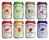 Waterloo Sparkling Fruit Flavored Water, Multi-Flavor Variety | Zero Calorie | Zero Sugar | Zero Sodium | Zero Calories, 12 Fl Oz with Oasis Snacks Sticker (8 Flavor Variety, Pack of 16)