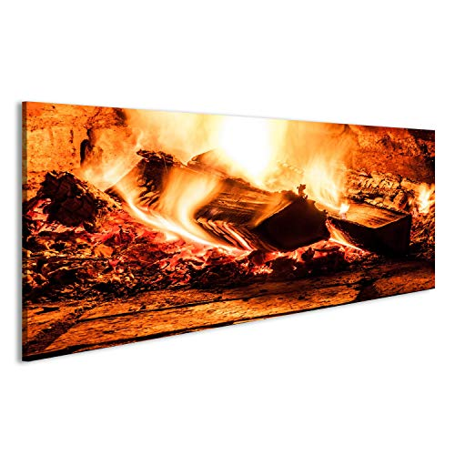 islandburner Bild Bilder auf Leinwand Kaminfeuer romantisch gemütlich Poster, Leinwandbild, Wandbilder