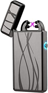 Arc Plasma Lighter Windproof Arc Lighters Flameless USB Lighter Rechargeable Electric Lighter lcfun Pulse Dual Arc Lighter