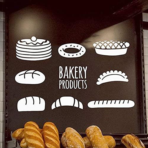 Pegatinas de pared Adhesivos Pared Producto de panadería de dibujos animados, papel tapiz adhesivo, decoración de habitación de vinilo, guardería, habitación de niños, decoración de pared, 50x79cm