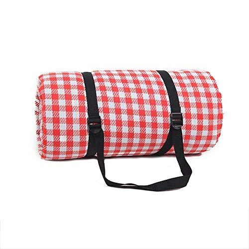 LHY- Mat Pique-Nique Beach Blanket Tente Tapis extérieur Pique-Nique Blanket étanche Portable 200 x 300 cm 3 Couleurs Résiste à l'humidité (Color : Red)