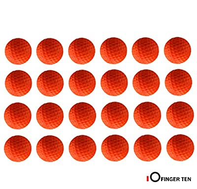 FINGER TEN Golf Practice Balls Foam Colored Value 6/12/24 Pack, Golf Ball Limited Flight for Indoor Outdoor Driving Range Backyard Training (Orange, 6 Pack)