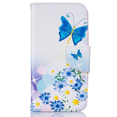 """YYhin Custodia per Cover LG K5(5.3"""") Case,Flip Wallet Case,Stand Cover,Custodie protettive magnetiche con Case Cover[Love/Farfalla e Fiore]"""