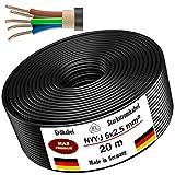 Cable de alimentación subterráneo, cable de alimentación 5, 10, 15, 20, 25, 30, 35, 40 o 50 m, NYY-J...