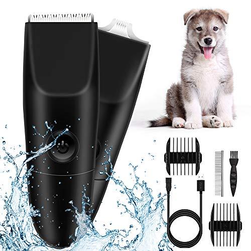 ペット用 バリカン 犬用バリカン 低騒音 高精度 刈り長さ調整可能 水洗い可 充電式 コードレス 小型犬、中型犬、大型犬/猫/その他の動物に幅広く対応 ペットグルーミングセット