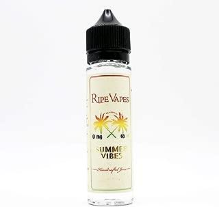 電子タバコ リキッド VAPE RIPE VAPES SUMMER VIBES 60ml WVS オリジナルVAPEバンド付《ライプ ニコチン0mg》