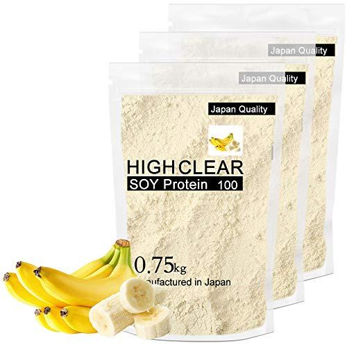 【国産ソイ・甘すぎないリッチバナナ風味】 750g×3個セット (90食分) HIGH CLEAR(ハイクリアー)