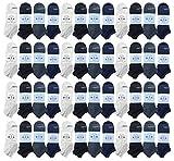 48 Pair BILLIONHATS Women's Low Cut Ankle Socks, Thin Lightweight Breathable Wholesale Sport Bulk Socks, Size, 9-11 (48 PACK ASSORTED)