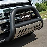 ARIES AL45-5006 Big Horn 4-Inch Black Aluminum Bull Bar, Select Dodge, Ram 1500, 2500, 350...