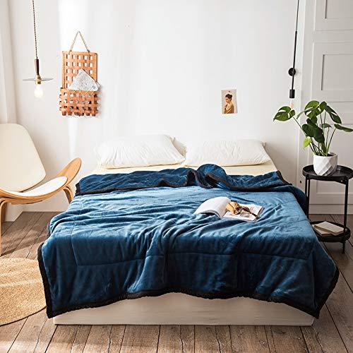 KNNSYZ Decke Decke Milch Samt dreischichtige Dicke warme Verbunddecke Gesteppte Kante Mode Decke