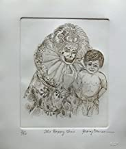 """Leos Coffers Art by George Crionas Happy Time"""" Hand Signed Limited Edition Etching. After The Original Painting or Drawing. Clown Paper 14 Inches X 12 Inches"""