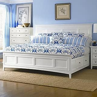 Magnussen Kentwood Panel Bed with Storage in White-Queen - Queen