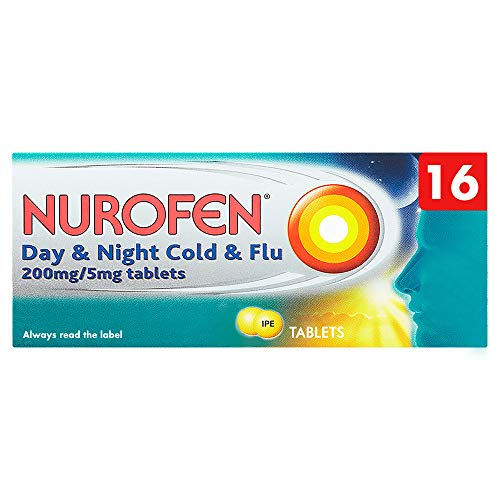 Nurofen Cold and Flu Day and Night Tablets Ibuprofen, Pack of 16