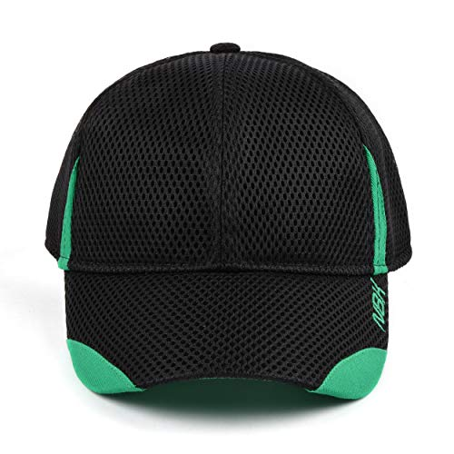 Nonbak gorra cap mesh casual/running tejido transpirable logo bordado Unisex 3 colores (Negro)