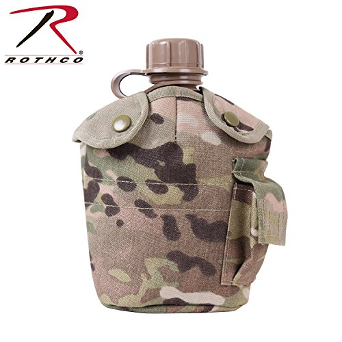 Rothco GI Style MOLLE Canteen Cover, Multicam